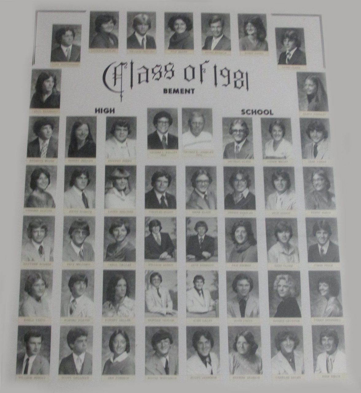 Class Pictures From The 1980's